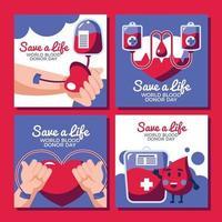 seja o salvador de alguém doando seu sangue vetor