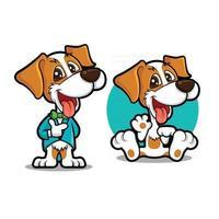 cachorro usando smoking com gravata borboleta acenando com a mão vetor