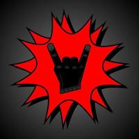 símbolo do rock and roll vetor