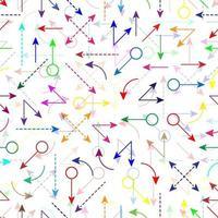 padrão sem emenda de setas coloridas vetor