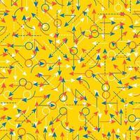definir setas de cores simples de padrão sem emenda vetor