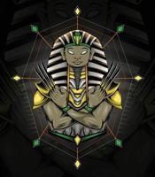 vetor faraó esfinge com garra