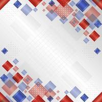 gradiente geométrico vermelho azul fundo branco vetor