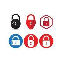 ícone do logotipo do cadeado vetor