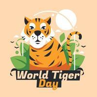 conceito do dia internacional do tigre vetor