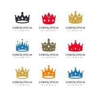 modelo de vetor de logotipo de coroa