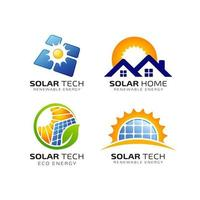 modelo de design de logotipo de energia solar sol vetor