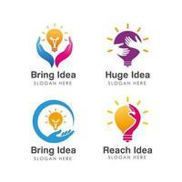 modelo de design de logotipo de ideia criativa vetor