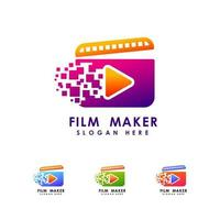modelo de design de ícone de logotipo de cineasta vetor