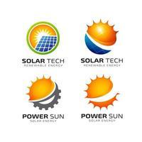 modelo de design de logotipo de energia solar vetor