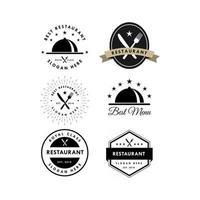 modelos de design de logotipo de restaurante e comida vetor