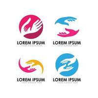 ilustração em vetor modelo de design de logotipo de cuidado de mão