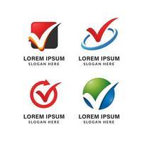 voto ou marca de seleção modelo de vetor de ícone de logotipo