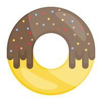 donut sobremesa comida vetor