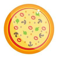 pizza e restaurante vetor