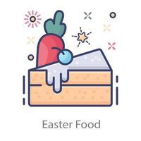 bolo de comida de páscoa vetor