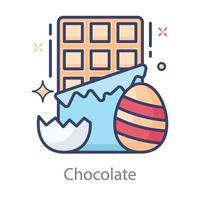 design editável de chocolate vetor