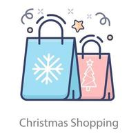 conceito de sacolas de compras vetor