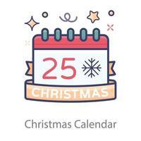 design de calendário de natal vetor
