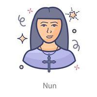 freira mulher divina vetor