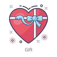 desenho de coração para presente dos namorados vetor