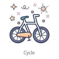 bicicleta a pedal vetor