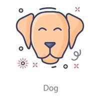 desenho de cachorro vetor