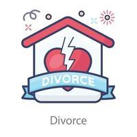 divórcio separação entre coisas vetor