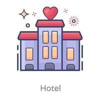serviços de hotel e quarto vetor