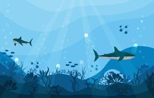 fundo de proteção de tubarão vetor
