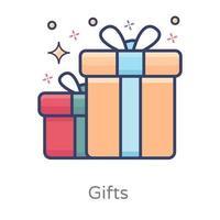 caixa de presente e presentes vetor