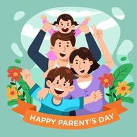 família fofa no dia dos pais vetor