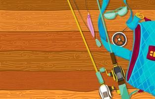 bolsa grande de equipamento de pesca vetor