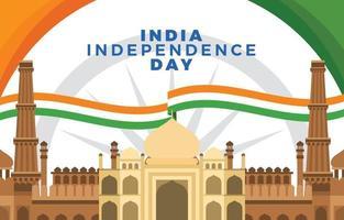 marco indiano representando o dia da independência vetor