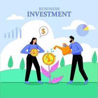 vetor de conceito de ilustração de vetor de investimento empresarial