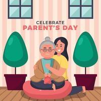 dando amor e carinho ao dia dos seus pais vetor