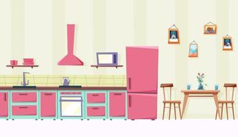 cozinha aconchegante sala de estar vetor