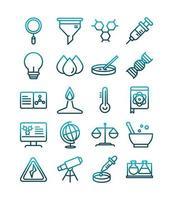 ícone de estilo gradiente de coleção de ícones de laboratório de ciência e pesquisa vetor