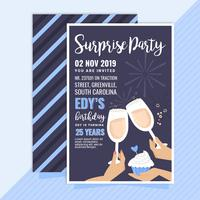 Convite para festa de surpresa de vetor