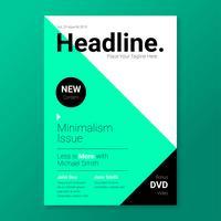 Modelo de capa de revista minimalista elegante vetor