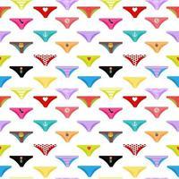coleção de calças multicoloridas de fundo sem costura padrão vetor