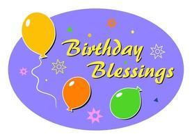 balões de bênção de aniversário vetor