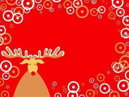 fronteira festiva de natal retro com renas vetor