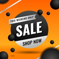 Modelo de Banner de venda laranja para elementos de Marketing de negócios vetor