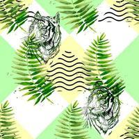 exótico padrão tropical sem costura vetor