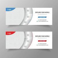 design de modelo de postagem de mídia social de viagens vetor