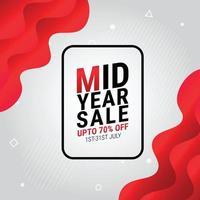ilustração em vetor modelo banner de venda no meio do ano