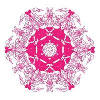 ornamento redondo mandala floral vetor