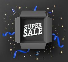 conceito de super venda com inscrição vetor