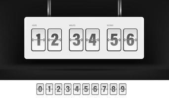 cronômetro de inversão branco e conjunto de números vetor